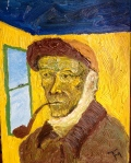 Self-Portrait, in van Gogh costume (10/2012)