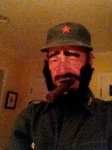 Fidel Castro Halloween Get-Up (Oct 2013)