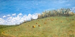 More Hay Bales (8/13) [18 x 36, oil]