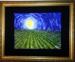 Moonlight on the Farmhouse, oil on canvas (11x16) [Mar 2014]