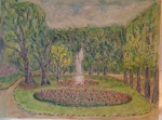 Jardin du Luxembourg, oil pastel (9x12) [May 2014]