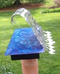 Out of the Blue, stainless steel on cedar (18x20x45) [May 2014]