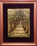 Cemetery Alley, oil on canvas, 11 x 16 (unframed) - Nov 14