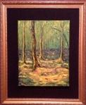 Sous Bois, oil on canvas, 11 x 16 (unframed) - Aug 14