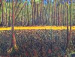 Sous Bois, evening 11 x 14, oil on canvas (7/2015)