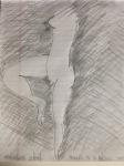 Homage to Matisse - sketch, pencil on notepaper (11/2015)